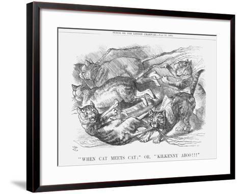 When Cat Meets Cat or Kilkenny Aboo!!!, 1879-Joseph Swain-Framed Art Print