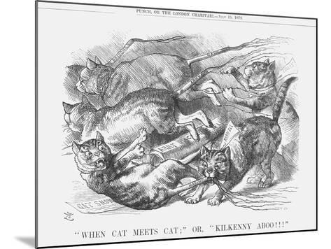 When Cat Meets Cat or Kilkenny Aboo!!!, 1879-Joseph Swain-Mounted Giclee Print