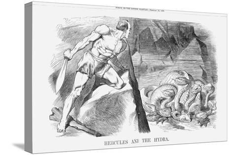 Hercules and the Hydra, 1870-Joseph Swain-Stretched Canvas Print