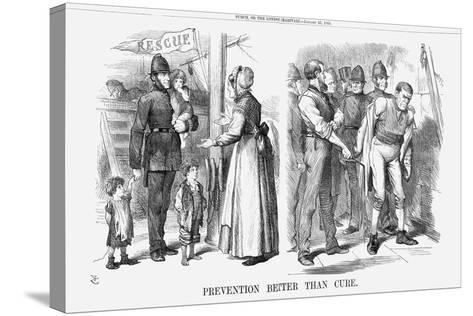 Prevention Better Than Cure, 1869-John Tenniel-Stretched Canvas Print