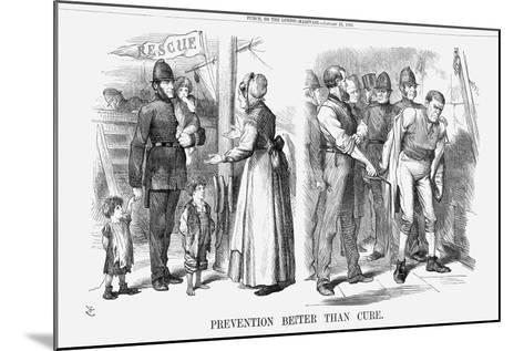 Prevention Better Than Cure, 1869-John Tenniel-Mounted Giclee Print