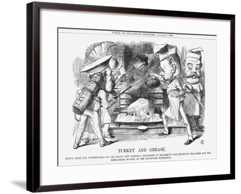 Turkey and Grease, 1869-John Tenniel-Framed Art Print