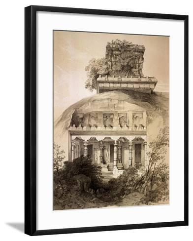 Cave with Structural Vimana, Mahavellipore-John Weale-Framed Art Print