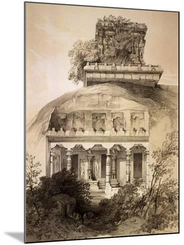 Cave with Structural Vimana, Mahavellipore-John Weale-Mounted Giclee Print