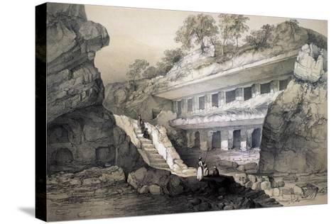 Kannari (Si), View of Durbar Cave-John Weale-Stretched Canvas Print