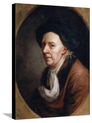 Portrait of the Mathematican Leonhard Euler, (1707-178), German Painting of 18th Century-Joseph Friedrich August Darbes-Stretched Canvas Print