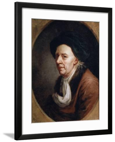 Portrait of the Mathematican Leonhard Euler, (1707-178), German Painting of 18th Century-Joseph Friedrich August Darbes-Framed Art Print