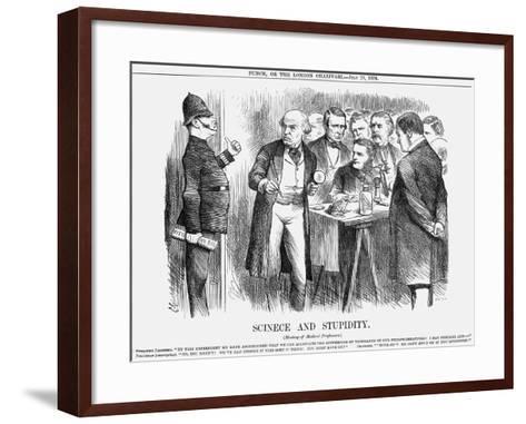 Scinece and Stupidity, 1876-Joseph Swain-Framed Art Print