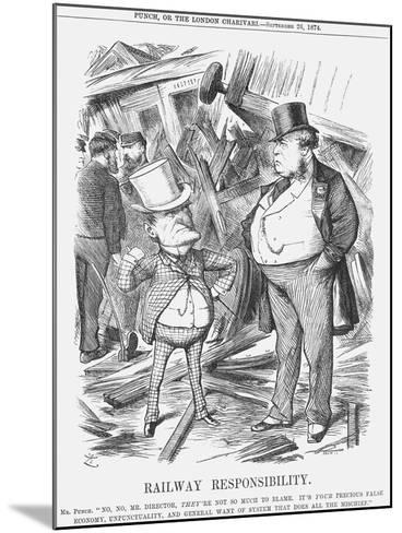 Railway Responsability, 1874-Joseph Swain-Mounted Giclee Print
