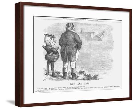 Loss and Gain, 1875-Joseph Swain-Framed Art Print