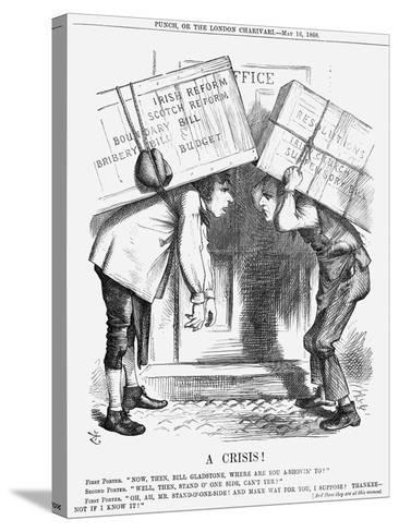 A Crisis!, 1868-John Tenniel-Stretched Canvas Print