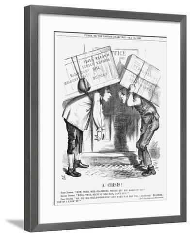 A Crisis!, 1868-John Tenniel-Framed Art Print