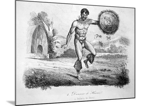 Hawaiian Dancer, C1770-1793-John Webber-Mounted Giclee Print