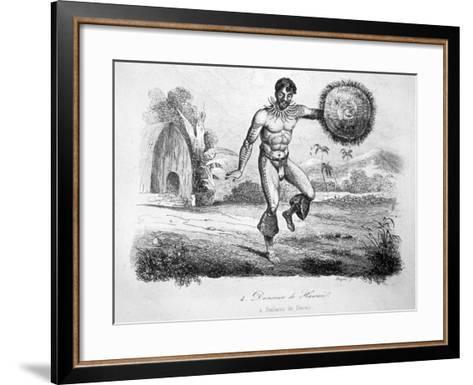 Hawaiian Dancer, C1770-1793-John Webber-Framed Art Print