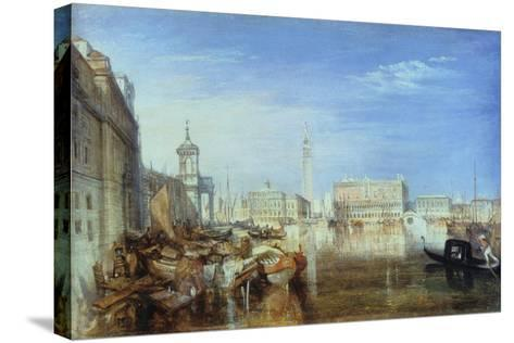 Bridge of Sighs, Ducal Palace and Custom-House, Venice: Canaletti Painting, 1833-J^ M^ W^ Turner-Stretched Canvas Print