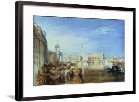 Bridge of Sighs, Ducal Palace and Custom-House, Venice: Canaletti Painting, 1833-J^ M^ W^ Turner-Framed Art Print