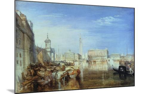 Bridge of Sighs, Ducal Palace and Custom-House, Venice: Canaletti Painting, 1833-J^ M^ W^ Turner-Mounted Giclee Print