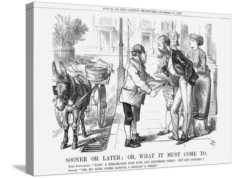 Sooner or Later; Or, What it Must Come To, 1867-John Tenniel-Stretched Canvas Print