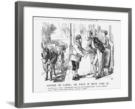 Sooner or Later; Or, What it Must Come To, 1867-John Tenniel-Framed Art Print