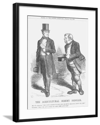 The Agricultural Jeremy Diddler, 1865-John Tenniel-Framed Art Print