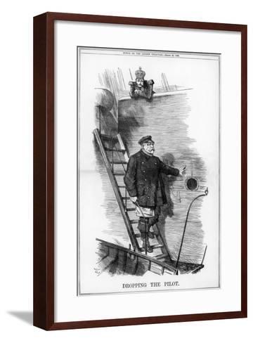 Dropping the Pilot, 1890-John Tenniel-Framed Art Print