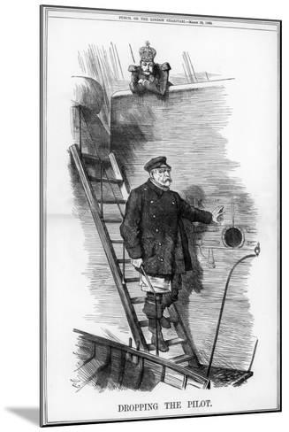 Dropping the Pilot, 1890-John Tenniel-Mounted Giclee Print
