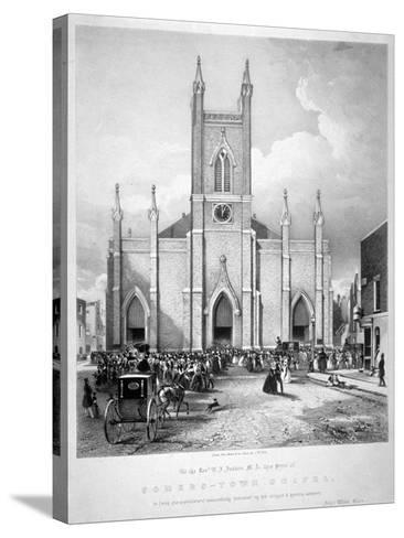 St Mary's Chapel, Eversholt Street, St Pancras, London, C1835-John West Giles-Stretched Canvas Print