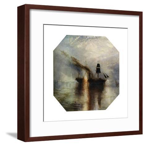 Peace, Burial at Sea of the Body of Sir David Wilkie, C1842-J^ M^ W^ Turner-Framed Art Print