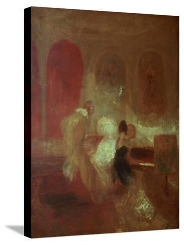Music Party, East Cowes Castle, Isle of Wight, 1835-J^ M^ W^ Turner-Stretched Canvas Print