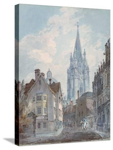 Oxford: St Mary's from Oriel Lane, 1792-1793-J^ M^ W^ Turner-Stretched Canvas Print