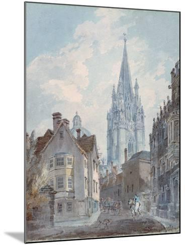 Oxford: St Mary's from Oriel Lane, 1792-1793-J^ M^ W^ Turner-Mounted Giclee Print