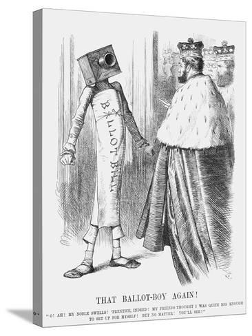 That Ballot-Boy Again!, 1872-Joseph Swain-Stretched Canvas Print