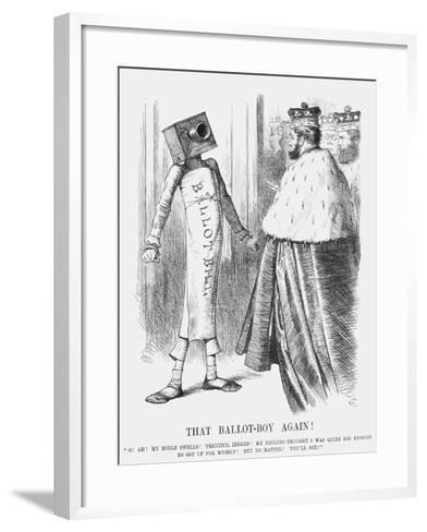 That Ballot-Boy Again!, 1872-Joseph Swain-Framed Art Print