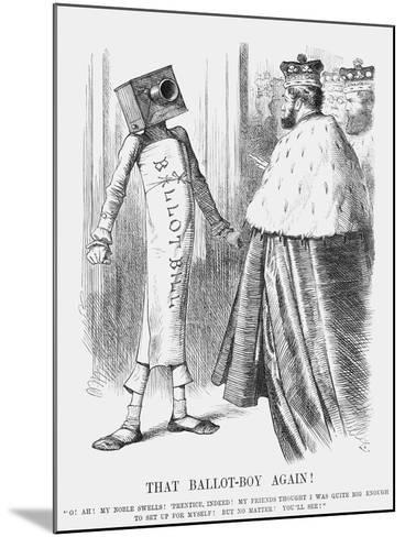 That Ballot-Boy Again!, 1872-Joseph Swain-Mounted Giclee Print