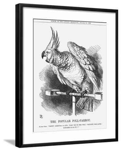 The Popular Poll-Parrot, 1866-John Tenniel-Framed Art Print