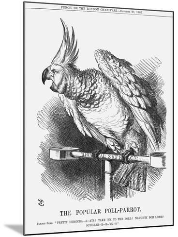 The Popular Poll-Parrot, 1866-John Tenniel-Mounted Giclee Print