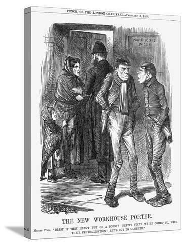 The New Workhouse Porter, 1866-John Tenniel-Stretched Canvas Print