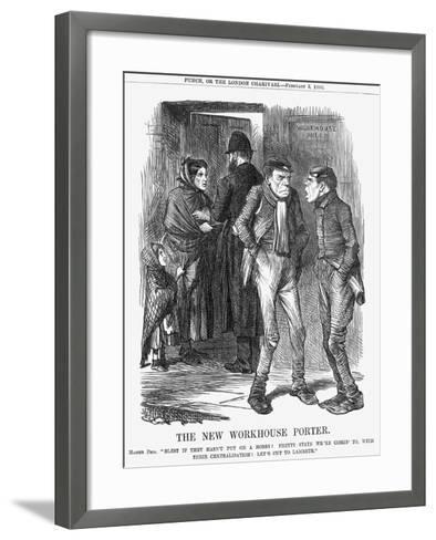 The New Workhouse Porter, 1866-John Tenniel-Framed Art Print