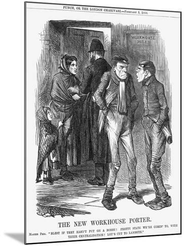 The New Workhouse Porter, 1866-John Tenniel-Mounted Giclee Print
