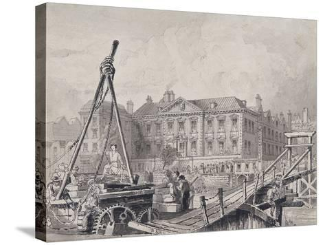 Fishmongers' Hall from North East, London, C1835-John Woods-Stretched Canvas Print