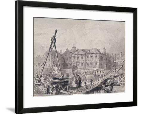 Fishmongers' Hall from North East, London, C1835-John Woods-Framed Art Print
