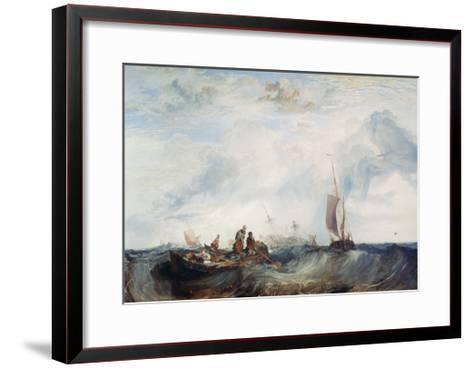 Entrance of the Meuse..., C1819-J^ M^ W^ Turner-Framed Art Print