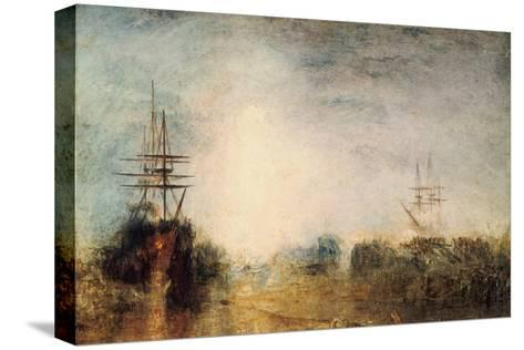Whalers (Boiling Blubbe) Entangled in Flaw Ice, Endeavouring to Extricate Themselves, 1846-J^ M^ W^ Turner-Stretched Canvas Print