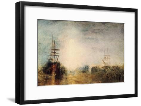 Whalers (Boiling Blubbe) Entangled in Flaw Ice, Endeavouring to Extricate Themselves, 1846-J^ M^ W^ Turner-Framed Art Print