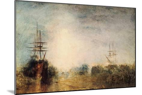 Whalers (Boiling Blubbe) Entangled in Flaw Ice, Endeavouring to Extricate Themselves, 1846-J^ M^ W^ Turner-Mounted Giclee Print