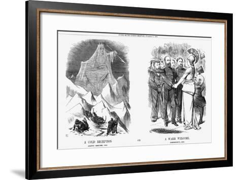 A Cold Reception and a Warm Welcome, 1876-Joseph Swain-Framed Art Print