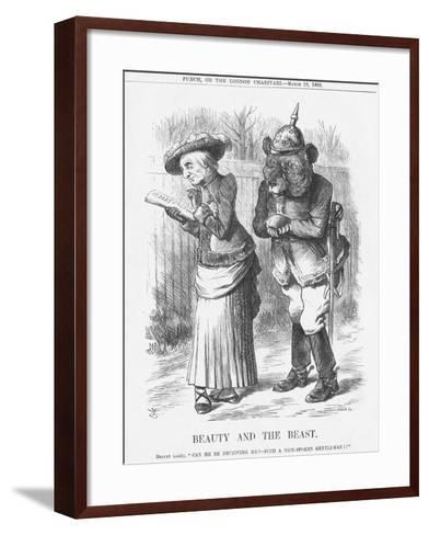 Beauty and the Beast, 1885-Joseph Swain-Framed Art Print