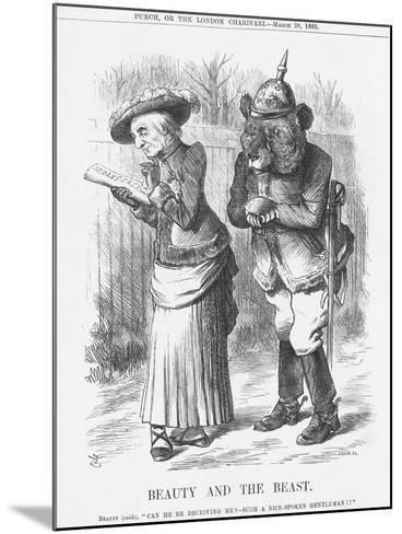 Beauty and the Beast, 1885-Joseph Swain-Mounted Giclee Print