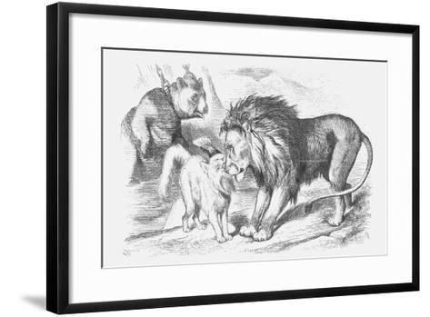 Feline Friends; Or, the British Lion and the Persian Chat!, 1873-Joseph Swain-Framed Art Print