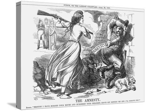 The Amnesty, 1863-John Tenniel-Stretched Canvas Print